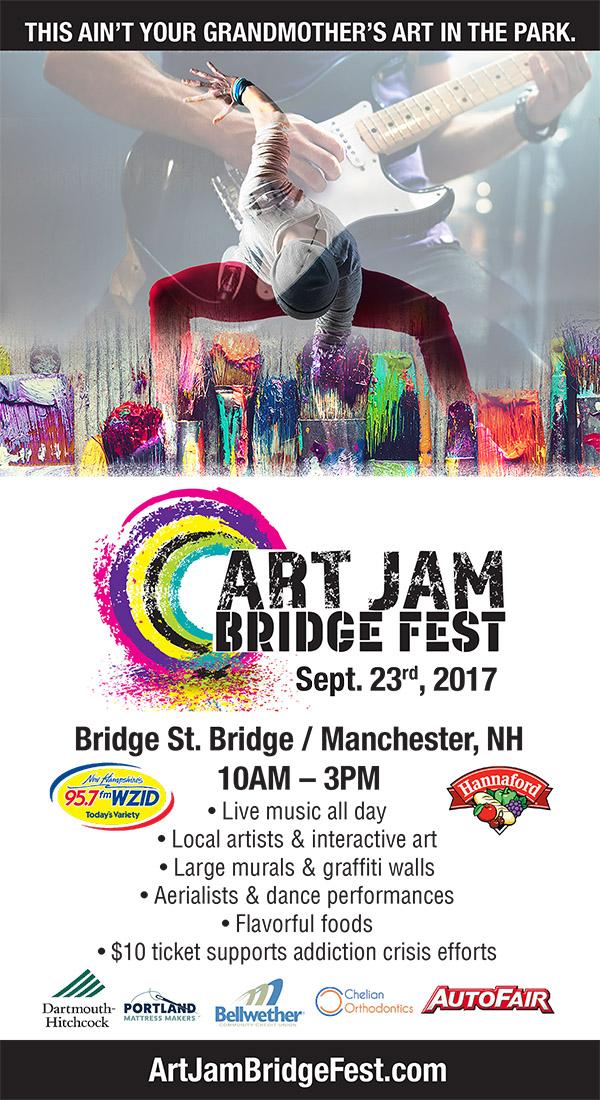 Wzid Art Jam Bridge Fest Free Admission Manchester Nh